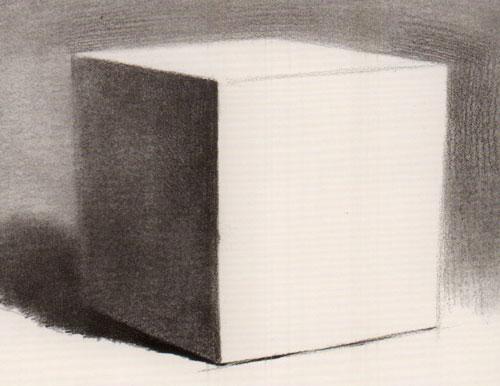 素描正方体的基本画法